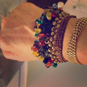 Gorgeous Woven and Beaded Bracelet from Thailand!